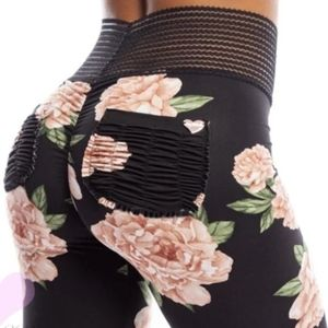 New floral butt lifting leggings